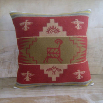 Pendleton Wool Pillow 15x15 by RobinCottage on Etsy