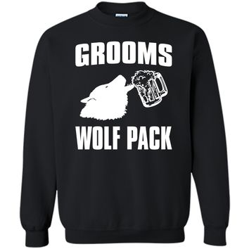 Funny Bachelor Party Shirt Grooms Wolf Pack