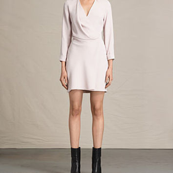 ALLSAINTS US: Womens Rila Dress (CHAMPAGNE PINK)