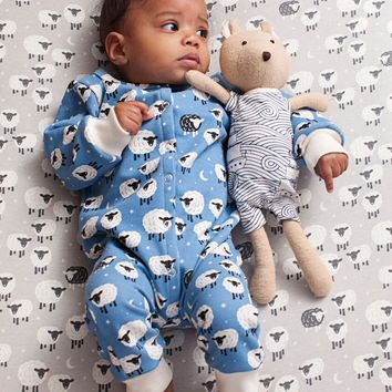Sleepy Sheep - Organic French Terry Jumpsuit by Winter Water Factory