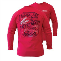 Southern Couture High Priority On the Bayou Country Unisex Long Sleeve  Bright T Shirt