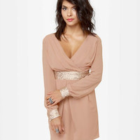 Lovely Blush Dress - Sequin Dress - Mauve Dress - $55.00