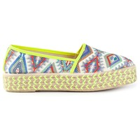 Outsider By Sixtyseven Aztec-Style Print Espadrilles