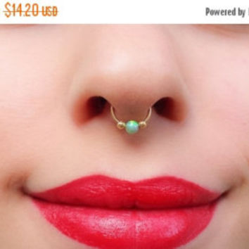 SALE Opal Nose Ring, Nose Ring, Helix earring, Nose Piercing, Helix Piercing, Cartilage Piercing, Nose Rings, Conch Piercing, Faux Nose Ring
