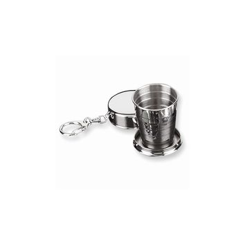 Stainless Steel Collapsible Cup Key Ring - Engravable Personalized Gift Item