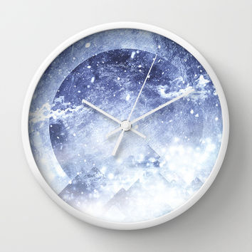 Even mountains get cold Wall Clock by HappyMelvin