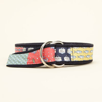 Men's Accessories: Canvas Patchwork D-Ring Belt for Men - Vineyard Vines
