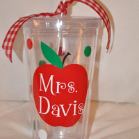 Personalized Tumbler for a Teacher