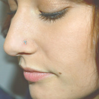 Silver Cross Nose Stud Ring 925 Nose Piercing