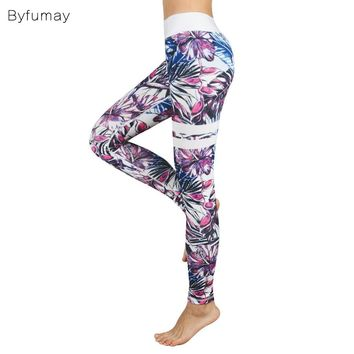 Byfumay Women Quality Workout Pant Push Up Leggings With Sexy Bra  Sports Running Yoga Suit Fitness Sets Gym Clothes YGK158