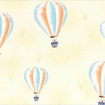 Lecien Japan Wind Hot Air Balloon by Wenche Wolff Hatling Arctic Kiss Collection HALF YARD (45 cm)