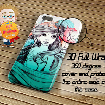 Beautiful Ariel Little MermaidCase iPhone 6 / 5c / 5/5s / 4/4s, Galaxy S6, S5, S4, S3, Xperia Z,Z1,Z2 cases