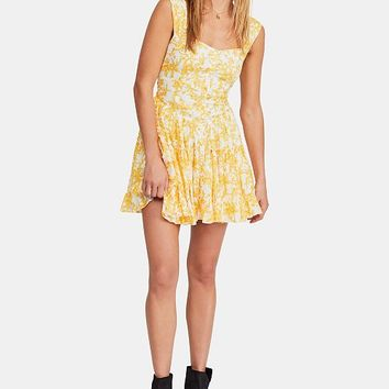 Free People Dance on the Black Top Printed Dress Women - Dresses - Macy's