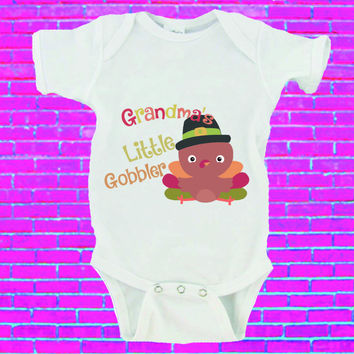 Grandma's Little Gobbler Thanksgiving Gerber Onesuit ®