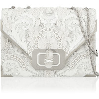 Marchesa - Valentina embellished leather shoulder bag