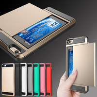 Fashion Top Quality Card Slider with Card Storage Armor cover for i5 phone bag