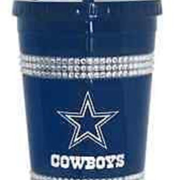 Dallas Cowboys Double Bling Tumbler With Straw