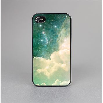 The Cloudy Grunge Green Universe Skin-Sert Case for the Apple iPhone 4-4s