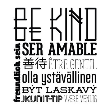 Be Kind - Office Quote Wall Decals