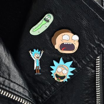 Rick and Morty Pin Badges