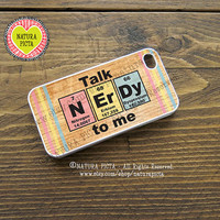 Talk Nerdy to me iphone case - Colored periodic table-iphone 4/4S-iphone 5/5S -Galaxy S4 -Design by Natura Picta-NP085