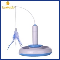 Cat Electric Toys Teaser Interactive Cats Toy Rotating designed Funny Feather Toys For Pet Cats.