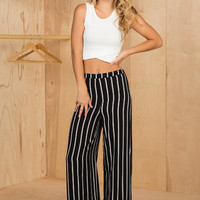 Wide Leg Stripe Pants- FINAL SALE