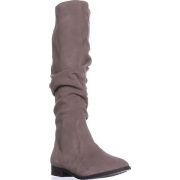 Steve Madden Beacon Tall Slouch Boots, Taupe Suede, 7.5 US