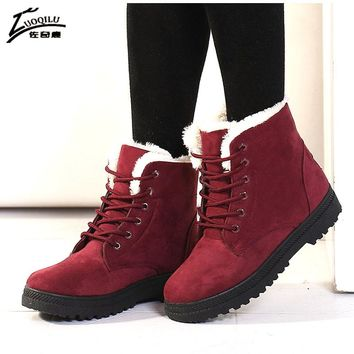 Women Boots 2017 Winter Boots Women Warm Fur Ankle Boots