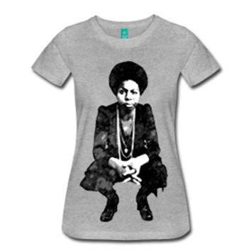 Young Nina Simone Women's Fitted T-Shirt - Gray