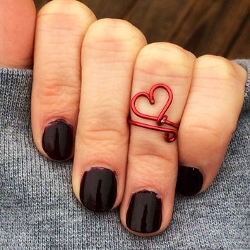 Heart Shaped Ring, Heart Ring, Valentines Day Gift, Gift For Girlfriend