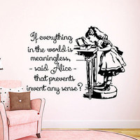 Wall Decal Alice in Wonderland Vinyl Sticker Home Decor Interior Bedroom LM197