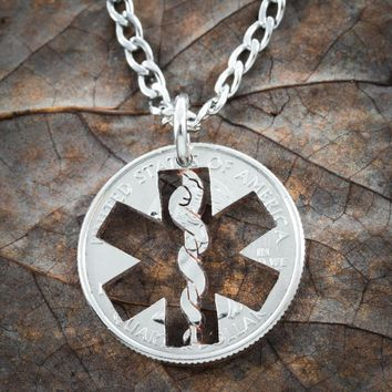 Nurse Necklace, Star Of Life Jewelry by Namecoins