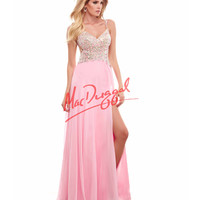 Ice Pink Low Back Embellished Dress