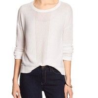 Banana Republic Womens Factory Crew Neck Crop Sweater