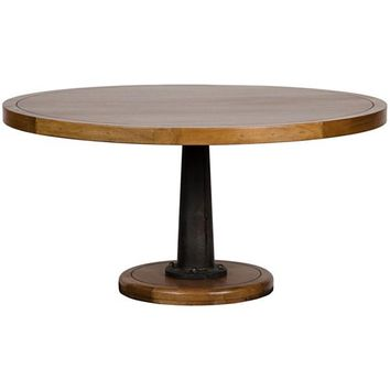 Cason Dining Table with Cast Pedestal, 60""