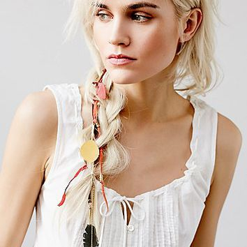 Free People Womens Leather Leaf Braid