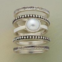 PEARLY GIRL STACK RINGS         -                Stack         -                Rings         -                Jewelry         -                Categories                       | Robert Redford's Sundance Catalog
