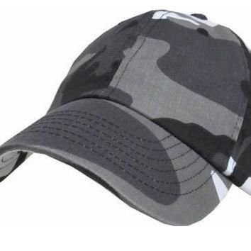 S Cloth Camo Citi Solid Plain Washed Cotton Polo Style Baseball Ball Cap Hat 100% Cott
