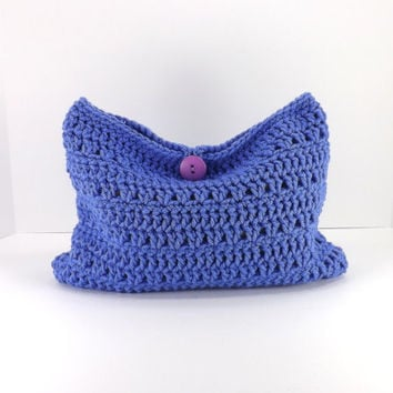 Crochet purple make up bag, crochet cosmetic bag, crochet mini bag, crochet clutch, fashion make up bag 2014