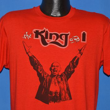 80s The King and I Broadway Musical t-shirt Large