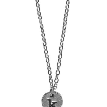 Tiny Custom Monogram Initial Pendant Necklace