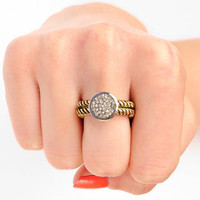 Vintage Sparkler Ring in Antique Gold :: tobi
