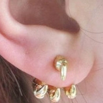 Gold Claw Earrings
