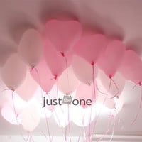 90 pcs Lovely Cute Heart Balloons Pink Hearts LATEX Helium Ballon for Party Home Decoration
