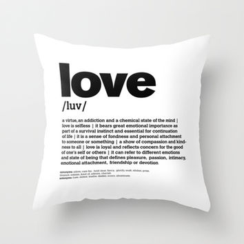 definition LLL - Love 3 Throw Pillow by colli13designs:by Su
