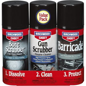Birchwood Casey Gun Bore Scrubber and Barricade 1,2,3 Kit
