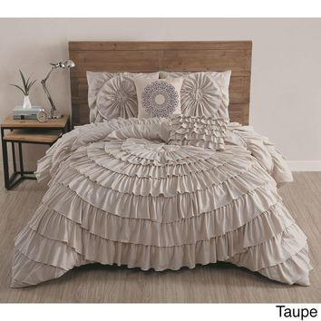 Day-First™ Azalee Romantic Ruffled 5 PC Comforter Bedding Set