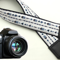 Arrows camera strap. DSLR / SLR  Camera Strap. Photo Camera accessories for Nikon, Canon, Sony, Fuji, Panasonic and other cameras.
