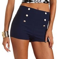 Sailor Button-Down Millennium Short: Charlotte Russe